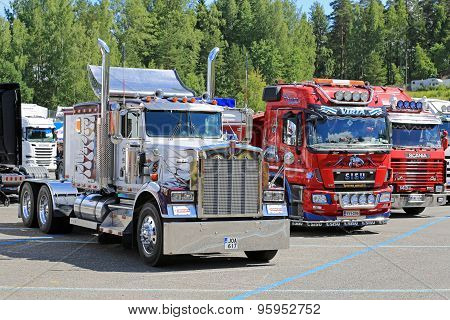 Classic Kenworth And Finnish Cab Over Show Trucks