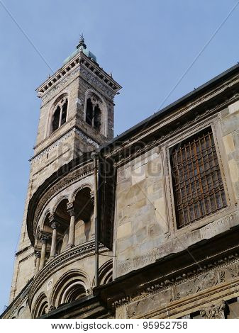 The San Alessandro duomo in Bergamo