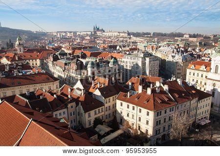 summer view of Old Town in Prague, Czech Republic