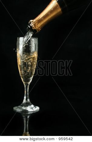 Pouring A Champagne Flute