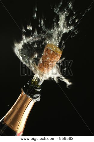 Champagne Bottle Ready For Celebration