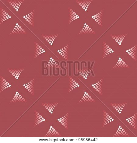 Red Background With Dotted Motif