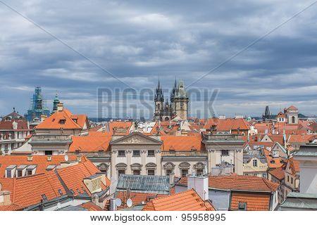 Tyn Church, Prague, morning.