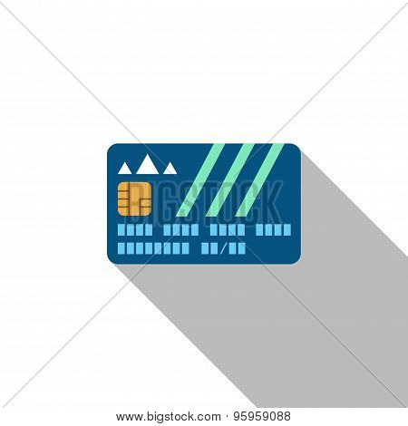 Credit Card With Shadow