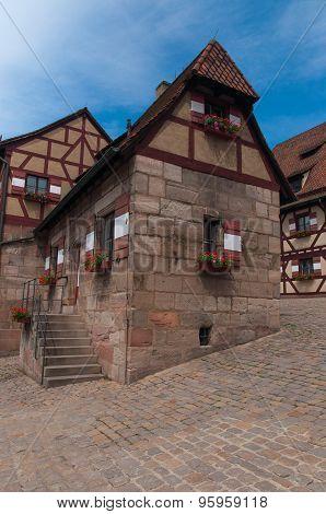 Half-timbered in Nuremberg, Germany.
