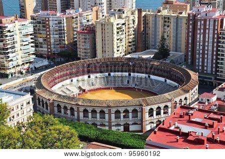 Plaza De Toros In Malaga, Spain