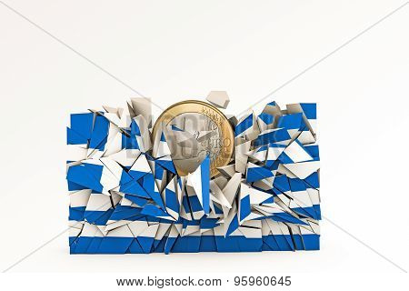 Greek Flag Crashed