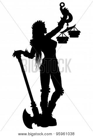 Woman Justice Silhouette