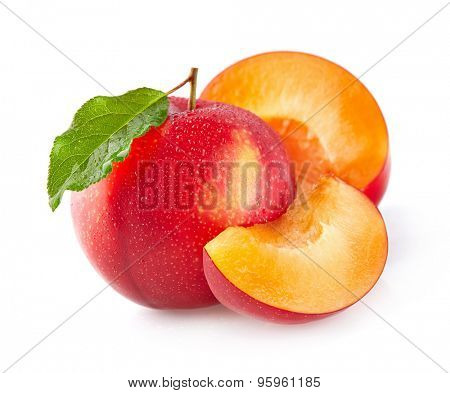 Plums with slices