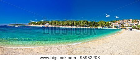Paradise Beach In Primosten Panoramic View