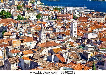 Sibenik Old Town Aerial View