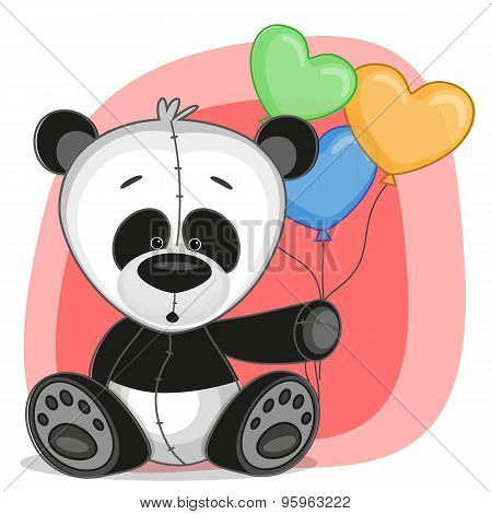 Panda With Baloons