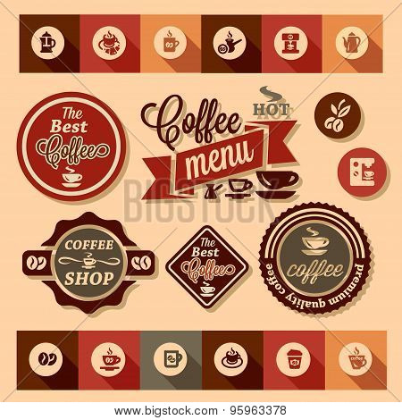 coffee design stickers