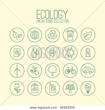 Ecology Linear Icons