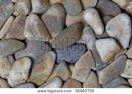 An Arrangement Of Smooth River Rocks