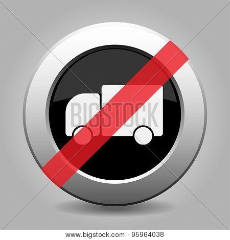 Gray Chrome Button - No Lorry Car