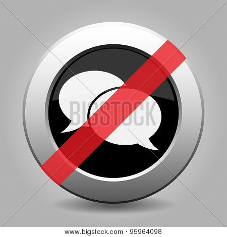 Gray Chrome Button - No Speech Bubbles