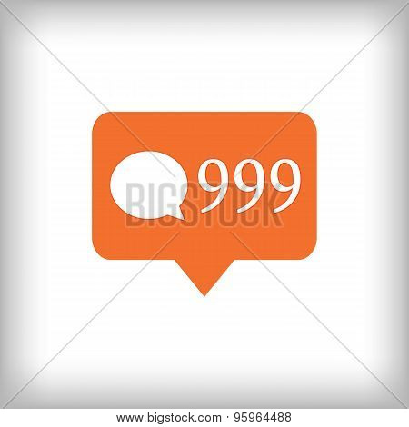 Comment Orange Icon. 999 Comments.