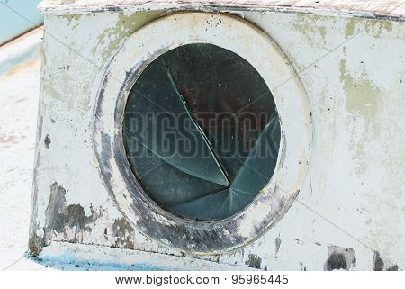Porthole On The Old Fishing Boat