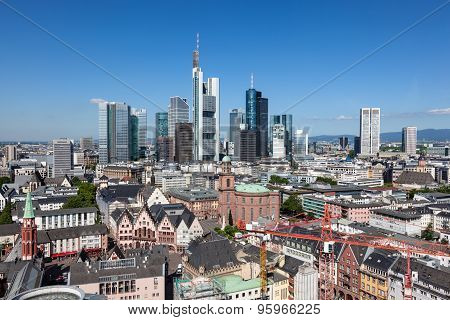 Skyline Of Frankfurt Main, Germany