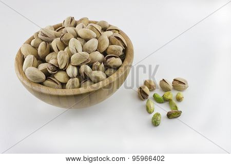 Bowl full of pistachios