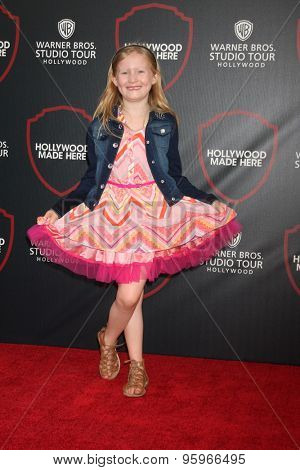 LOS ANGELES - JUL 14:  Abigail Zoe Lewis at the Warner Bros. Studio Tour Hollywood Expansion Official Unveiling at the Warner Brothers Studio on July 14, 2015 in Burbank, CA