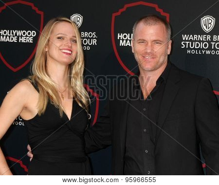 LOS ANGELES - JUL 14:  Suzanne Quast, Sean Carrigan at the Warner Bros. Studio Tour Hollywood Expansion Official Unveiling at the Warner Brothers Studio on July 14, 2015 in Burbank, CA