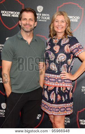 LOS ANGELES - JUL 14:  Zach Snyder, Deborah Snyder at the Warner Bros. Studio Tour Hollywood Event at the Warner Brothers Studio on July 14, 2015 in Burbank, CA