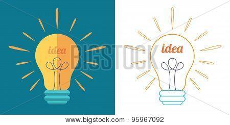Light Bulb As Idea Inspiration Concept