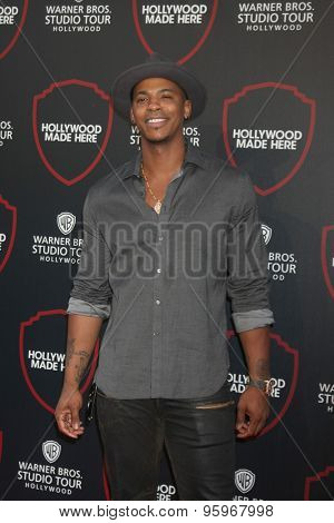 LOS ANGELES - JUL 14:  Mehcad Brooks at the Warner Bros. Studio Tour Hollywood Expansion Official Unveiling, Stage 48: Script To Screen at the Warner Brothers Studio on July 14, 2015 in Burbank, CA