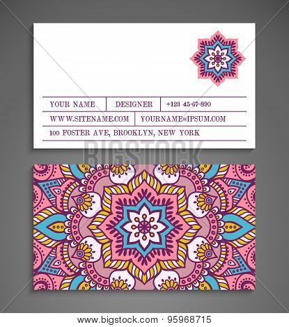 Collection Business card or invitation