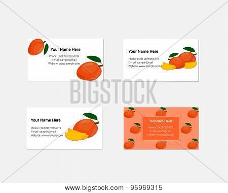 Design of Business Cards with Yummy Mango.