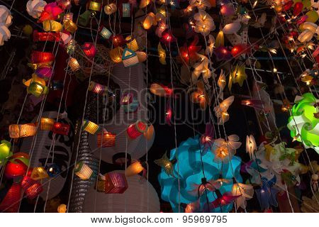 Bunch Of Colorful Lamp Handicrafts