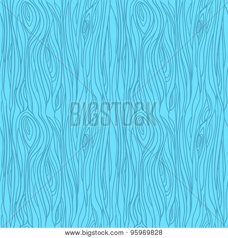 Hand Drawn Vector Seamless Pattern - Wood Texture.