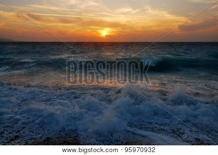 Sunset In The Aegean Sea