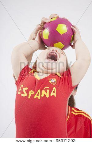 Baby Spanish Team Taking Ball