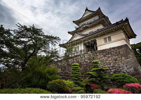 The Main Tower Of Odawara Fortress, Kanagawa, Japan