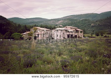 Stone Farmhouse In Rural Provence, France