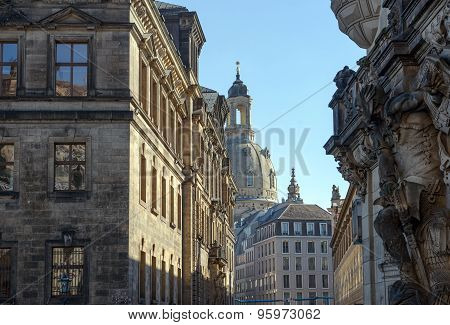 View Of Augustus Street From George Gate, Dresden, Saxony, Germany.