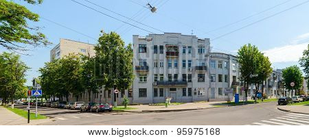 Building On Corner Of Streets Pushkin And Artem (