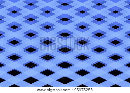 Blue Criss Cross Squares Pattern