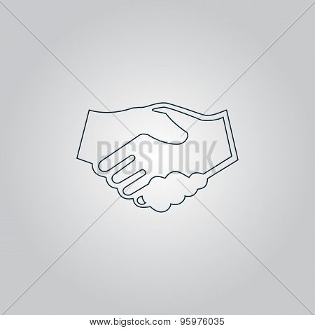 handshake. background for business and finance