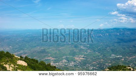 View of Montserrat mountains, Catalonia, Spain.