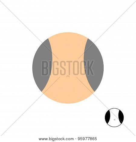 Womens Narrow Waist. Logo For Diet. Vector Illustration.
