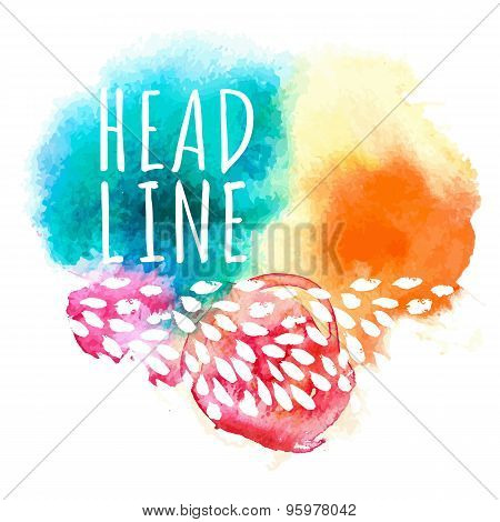 Bright Multicolored Watercolor Background