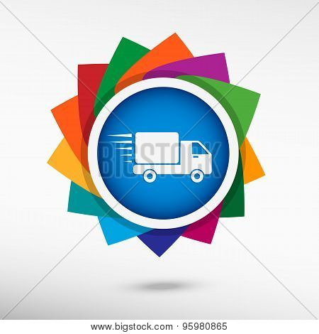 Fast Delivery Service Color Icon, Vector Illustration