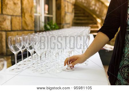 Hand Building A Several Wineglasses