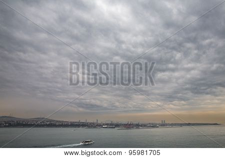 Asian side of Istanbul with sea