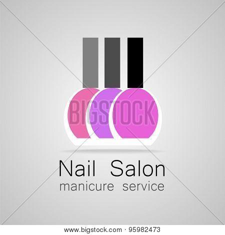 Nail Salon Logo Nail Polish A Symbol Of Manicure Design Sign