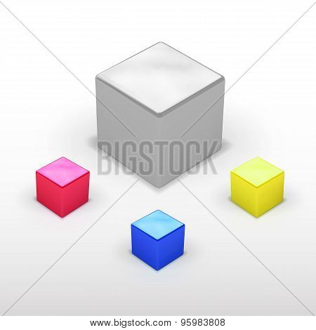 Vector Different Colors Box Collection
